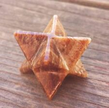 NATURAL ARAGONITE GEMSTONE MERKABA STAR (ONE) - BUY IT NOW