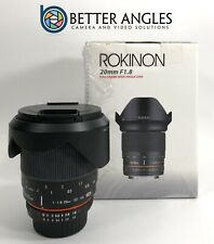 NIKON Rokinon 20mm F1.8 AS ED UMC Lens-Risk Free Guaranteed!