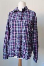 Violet Chemise à carreaux taille 10 Orvis Coton Long Manchette Manche B46