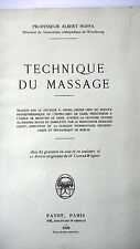 TECHNIQUE DU MASSAGE - PAR H. HOFFA