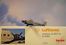 Herpa Wings 1:500 Junkers Ju 52/3  Lufthansa  D-AQUI 516709  Modellairport500
