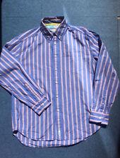 chemise PEPE JEANS taille L bleu jean rayures orange 40/42 un peu vintage