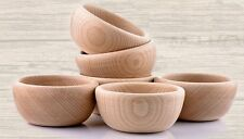 Wooden Bowl - perfect for snacks nuts chips - diameter 10 cm 4 inches