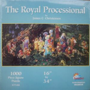 SunsOut fantasy art 1000pc jigsaw puzzle A Royal Processional Christensen SEALED