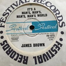 "JAMES BROWN - - IT'S A MAN'S WORLD - Rare 1966 Australian FESTIVAL 7"" Funk Soul"