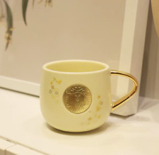NEW 2020 Starbucks Yellow Copper Chapter Coffee Mugs Cup Ceramic Limited Edition