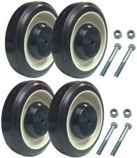"5"" Replacement Shopping Cart Wheels with Hardware (set of 4)"