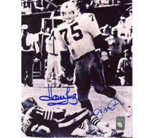 Howie Long Raiders & Joe Montana 49ers 16x20 #1093 Autographed Photo First Sack