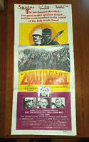 "Original Movie Poster ""Zulu Dawn"" 1979 Burt Lancaster Peter O'Toole"