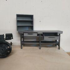 Werkstatt Werkbank mit 2 Schubladen +Regal 1:18 1:16 Diorama Modellbau