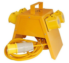 Electro 4 Way Metal Site Transformer Power Tool Spiltter Junction Box 110V 16A