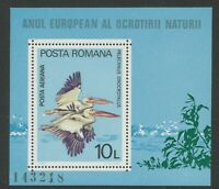 AU$ ROMANIA 1965 U/M MS 10 L. Birds - Rosa Pelikan (Pelecanus onocrotalus)