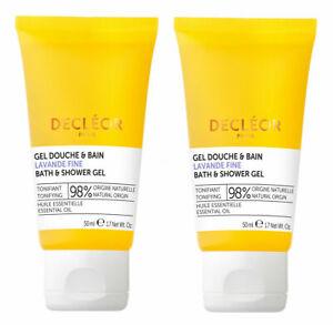 Decleor LAVANDE FINE Lavender Bath & Shower Gel Body Wash DUO: 2 x 50ml