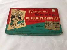 Vintage Grumbacher Oil Color Painting Set 321 Complete Box 12 Gainsborough USA