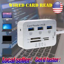 US Aluminum USB 3.0 Hub For MS SD M2 TF Multi-In-1 Memory Card Reader Adapter ol
