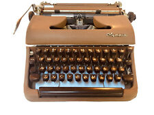 Vintage Olympia DeLuxe Portable Typewriter SM3 ? In Brown Everything Works