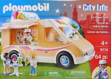 Playmobil US 9114 Ice Cream Truck Ice Cream Van Children Mixer Ice Drink Table NEW