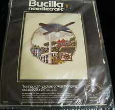 BUCILLA NEEDLECRAFT FRONT PORCH PICTURE OR WALL HANGING CREWEL KIT 48732 NEW!
