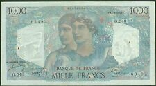 FRANCE 1000 FRANCS MINERVE et HERCULE du 17/2/1949  ETAT: TTB aplati   O 540