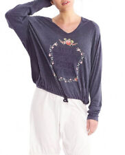 Wildfox Couture Power Of Dream  Hangout Hoodie In Oxford Blue Size S