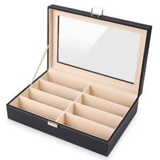 Pu Leather Glasses Display Case . Mvpower 8 Slot Eyeglass Sunglass Storage Box