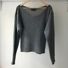 Won Hundred Womens Lou Grey Cotton & Wool Blend Jumper Sweater, Size XS