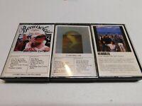 Lot of 3 Cassettes Beausoleil Louisiana & Seasoned Cajun Music From Left Coast