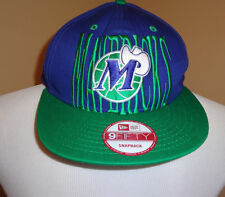 NWOT Men's Dallas Mavericks New Era Navy Blue w/Green Logo 9 Fifty Snap Back Cap