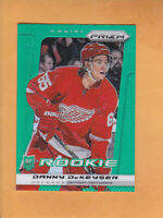 2013 14 PANINI PRIZM DANNY DEKEYSER ROOKIE PRIZM EMERALD PARALLEL #236 RED WINGS