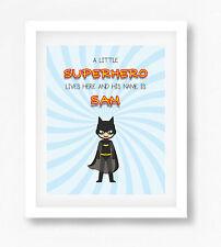 Personalised Superhero Name Picture Print - Batman