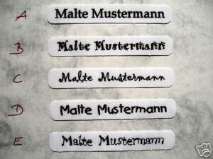 ★ Aufbügeln-FERTIG ★ 100 Wäscheetiketten Bügeletiketten Namen Schild Schilder  +