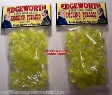 2 BAGS OF EDGEWORTH EXTRA HIGH GRADE SMOKING TOBACCO ADVERTISING PROMO MARBLES