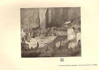 1905 Viktorianisch Studio Aufdruck ~ Beerdigung Ceremony Benares Von M. A. J.