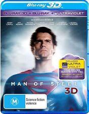 Man Of Steel 3D (Blu-ray, 2013, 3-Disc Set)