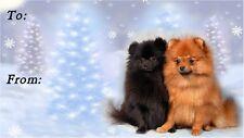 Pomeranian Christmas Labels by Starprint - No 2