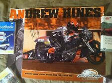 Andrew Hines Pro Stock Bike Motorcycle Signed Poster Nhra Autographed