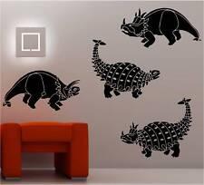 4 x dinosaures Art mural autocollant vinyle chambre d'ENFANT Décalcomanie