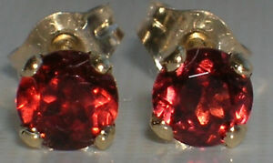 Brand New 4mm Garnet 9ct yellow gold stud earrings £55 or Best offer. Free post
