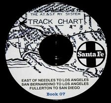 Atchison Topeka &Santa Fe 51 East of Needles to LA+ Track Chart PDF Pages DVD #7