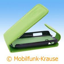 Funda abatible, funda, estuche, funda para móvil F. Samsung gt-s3800w/s3800w (verde)