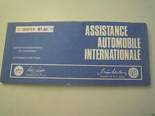 CARNET ASSISTANCE AUTOMOBILE INTERNATIONALE A.C.I. 1970 - FIAT - VINTAGE - C8-1