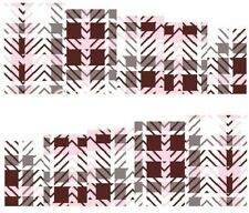 Nail Art Decals Transfers Stickers Check Pattern (A-128)
