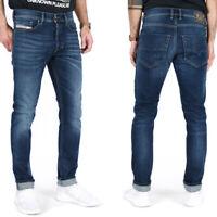 Diesel Herren Slim Tapered Fit Röhren Stretch Jeans Hose Blau - Tepphar R86L0