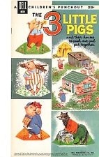 VINTAGE UNCUT 1960 3 Little Pigs PAPER DOLL ~DELL~CUTE HD~LASER REPRODUCTION NO1