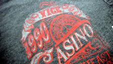 LUCKY BRAND VICE CASINO Men T Shirt S  100% Cotton - Short Sleeve Dark Gray