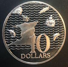 Trinidad and Tobaco - Silver 10 Dollar Coin - 1978 - Proof