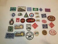 Railroad Patch Patches Variety railway transportation train Vintage Lot of 32