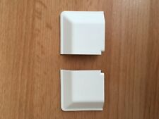 2 x White perfect fit blind corner caps, for Roller, Venetian or Pleated Frames