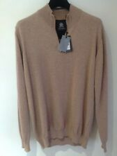 Guide London Light Brown Zip Neck Jumper   Large   BNWT