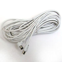 10 METRE EXTENSION AERIAL LEAD MALE - MALE RIGHT ANGLE 10M MOTORHOME CARAVAN TV